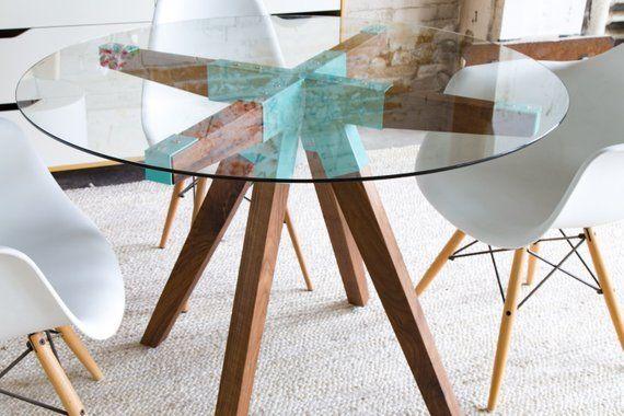 Kuchentisch Esstisch Mid Century Tisch Mid Century Modern Glastisch Midcentury Mobel M Runder Esstisch Esstisch Mit 6 Stuhlen Esstisch