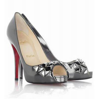 Christian Louboutin Pewter Bling Bling Metallic Peep Toe Pumps...someday!!