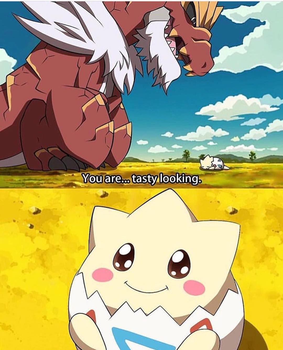 Tyrantrum And Tasty Togepi Cute Pokemon Pokemon Pokemon
