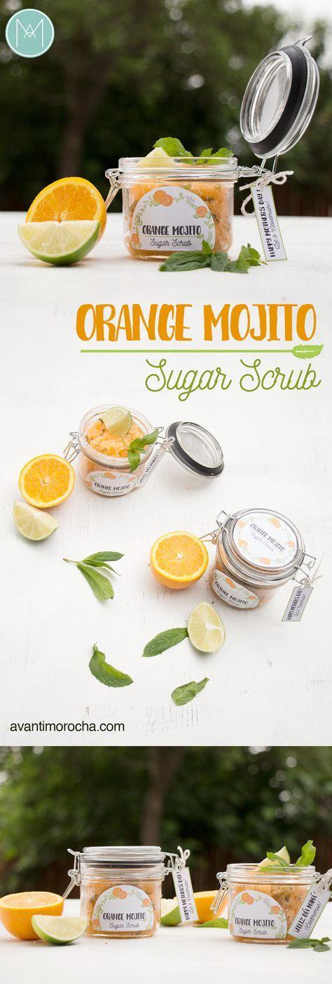 diy orange mojito sugar scrub exfoliantes pinterest geschenke geschenkideen und badekugeln. Black Bedroom Furniture Sets. Home Design Ideas