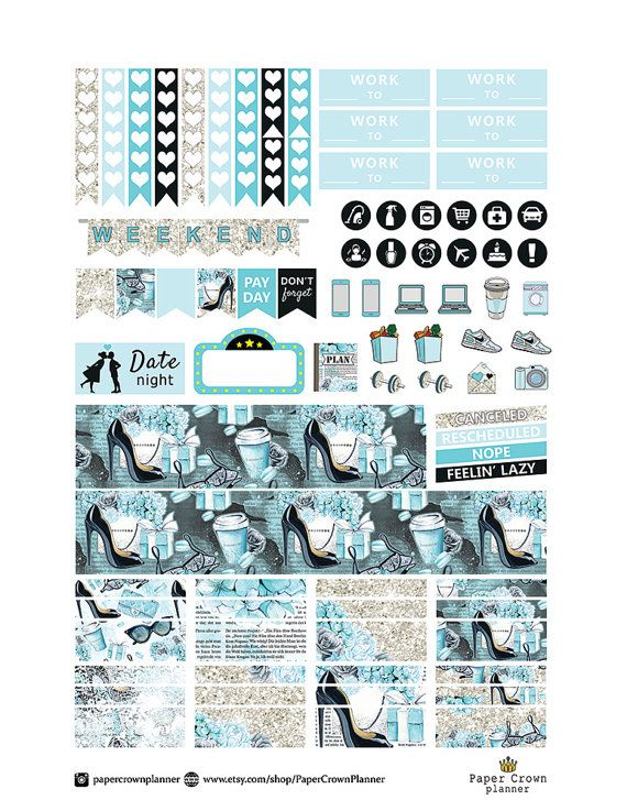 PRINTABLE Planner Stickers/Planner Stickers for use with Erin
