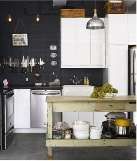 Black Kitchen Walls White Cabinets black kitchen walls - home renovation black kitchen walls black