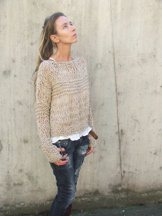 2fbdffb283e7 RESERVED for AMANDA   Grunge sweater   Fawn Alpaca mix por ileaiye ...