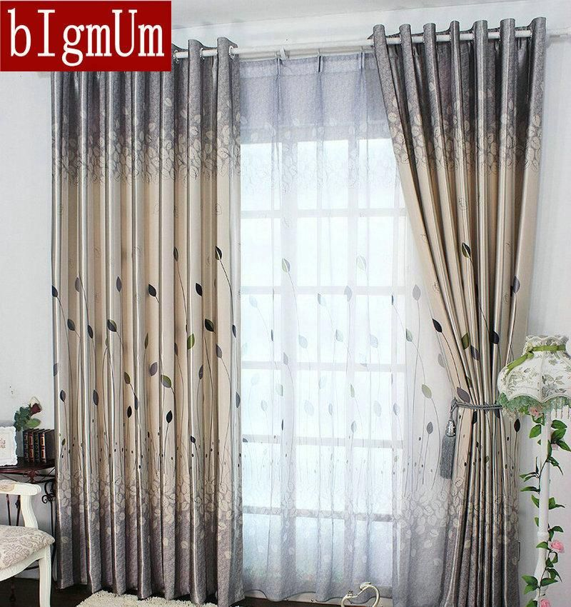 [Visit to Buy] Rustic Window Curtains For living Room/Bedroom Blackout Curtains Window Treatment /drapes Home Decor Tulip/leaves/Floral Pattern #Advertisement