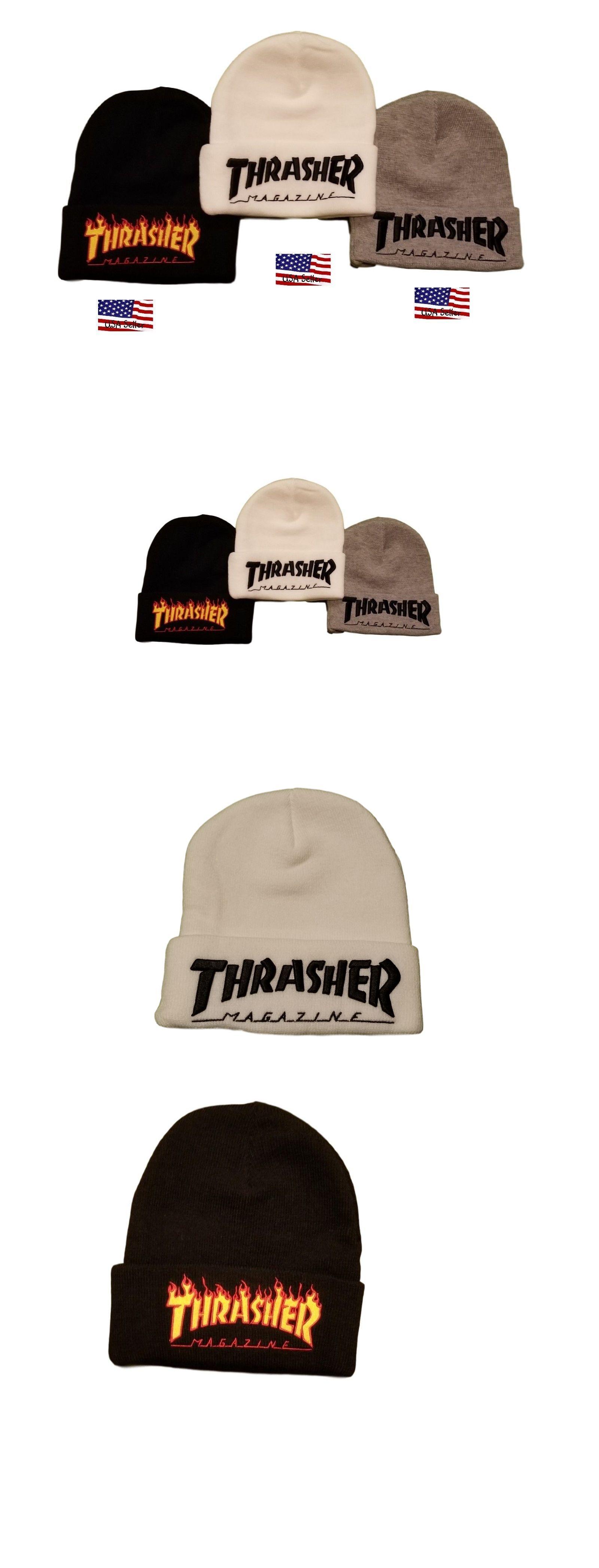 Hats 52365  Thrasher Magazine Logo Embroidered Beanie Hat Cap -  BUY IT NOW  ONLY   15.92 on  eBay  thrasher  magazine  embroidered  beanie a97afee24507