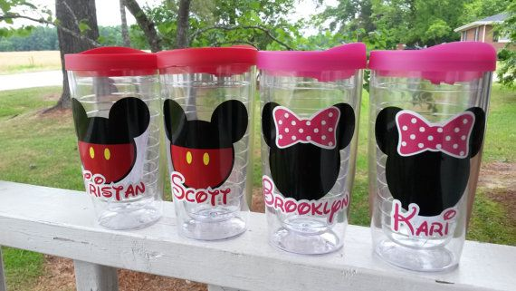 Personalized Disney Inspired Travel Tumbler with personalization in 5 sizes/styles. This listing is for one tumbler. Design features our