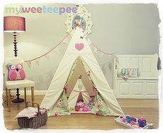 Tad excited about ordering Elsie's first Xmas pressie... Handmade teepee in the fabric of our choice... And a cute ickle matching teepee for her dolly's... Toooooo cute!