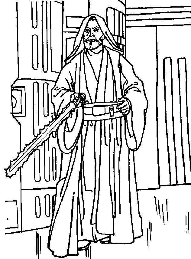obiwankenobicoloringpages16jpg 632856 LineArt Star Wars