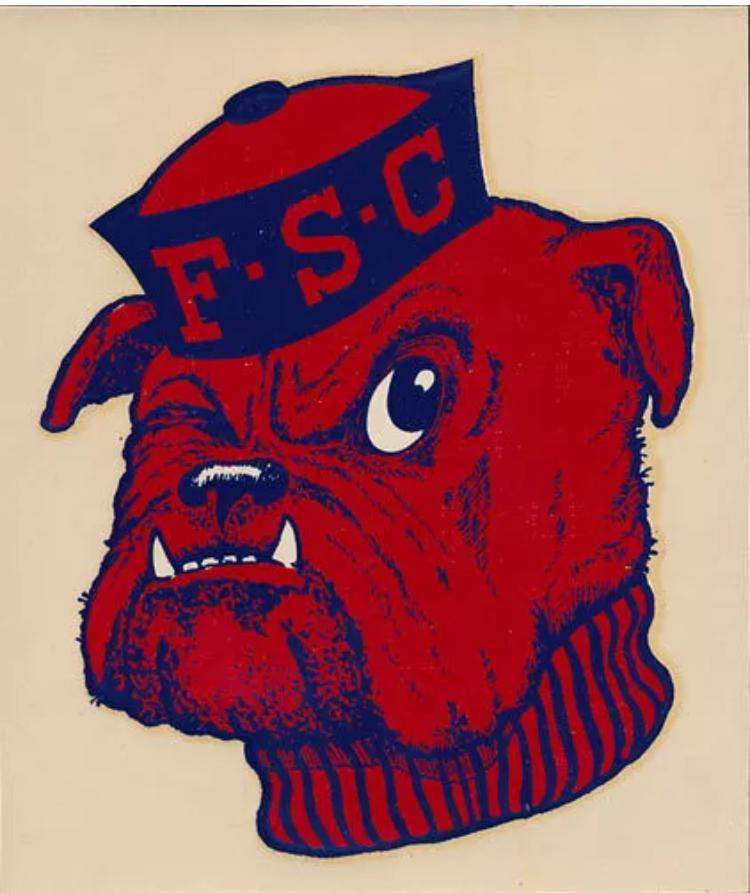 Fresno State Bulldogs Bulldog Mascot Vintage Cartoon Art Logo
