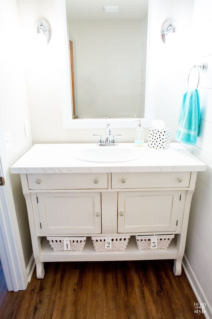 This was a sideboard in my kitchen i repurposed it and made it into
