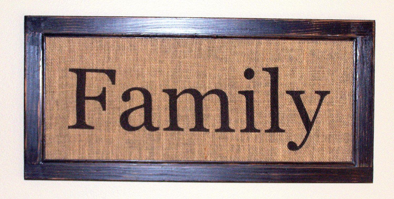 Distressed Wood Frame & Burlap Sign.   Etsy