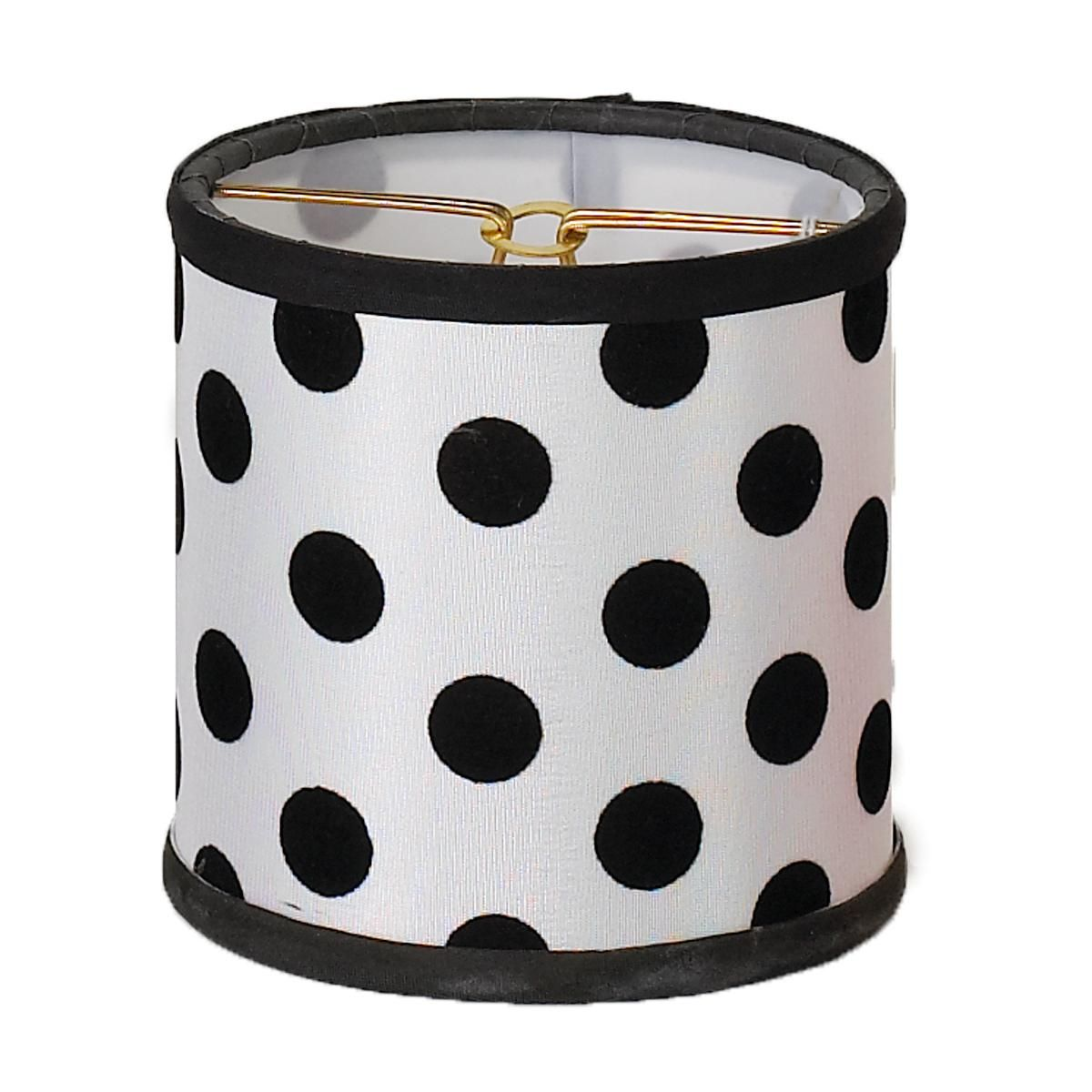 4 Black And White Polka Dot Chandelier Shade
