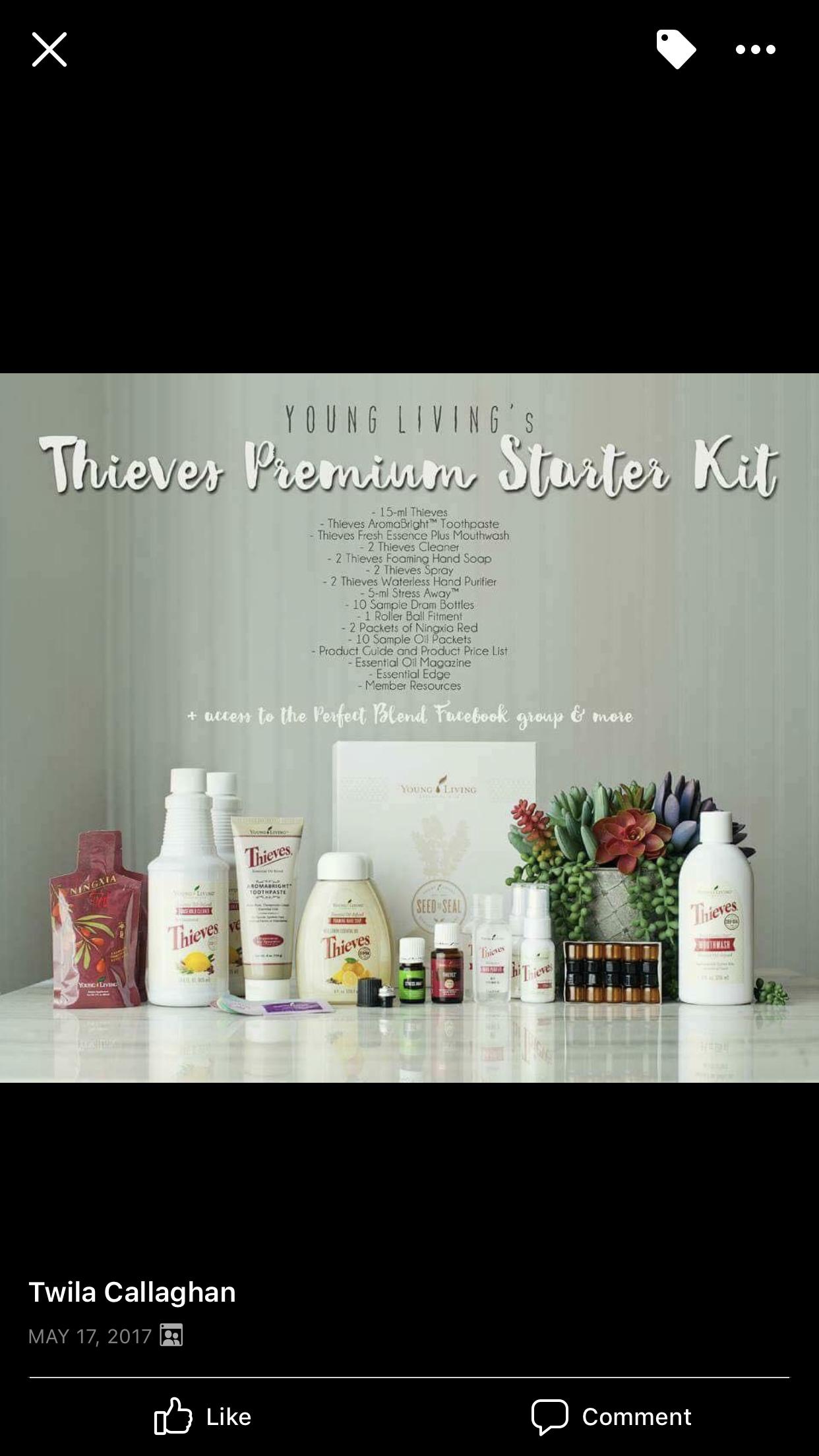 Young Living Thieves Premium Starter Kit Oils Pinterest