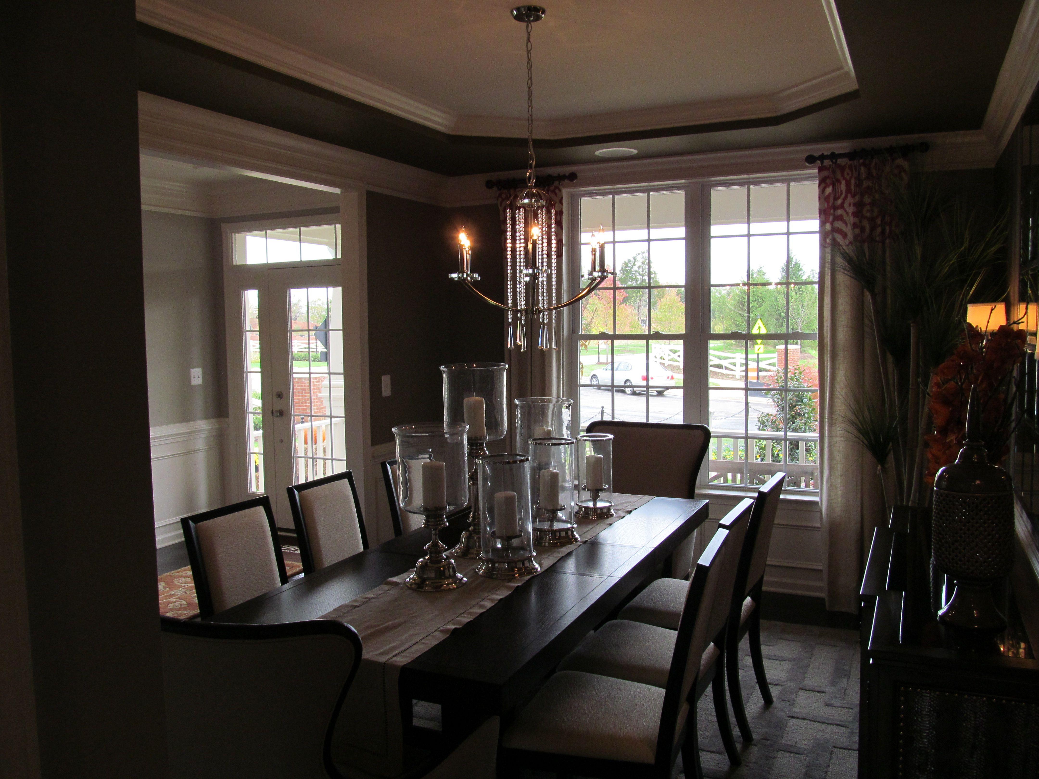 Dining room in the Carolina model