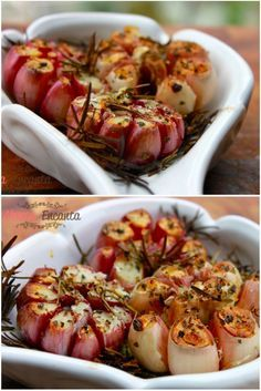 Photo of Garlic flower with rosemary and thyme (roasted)