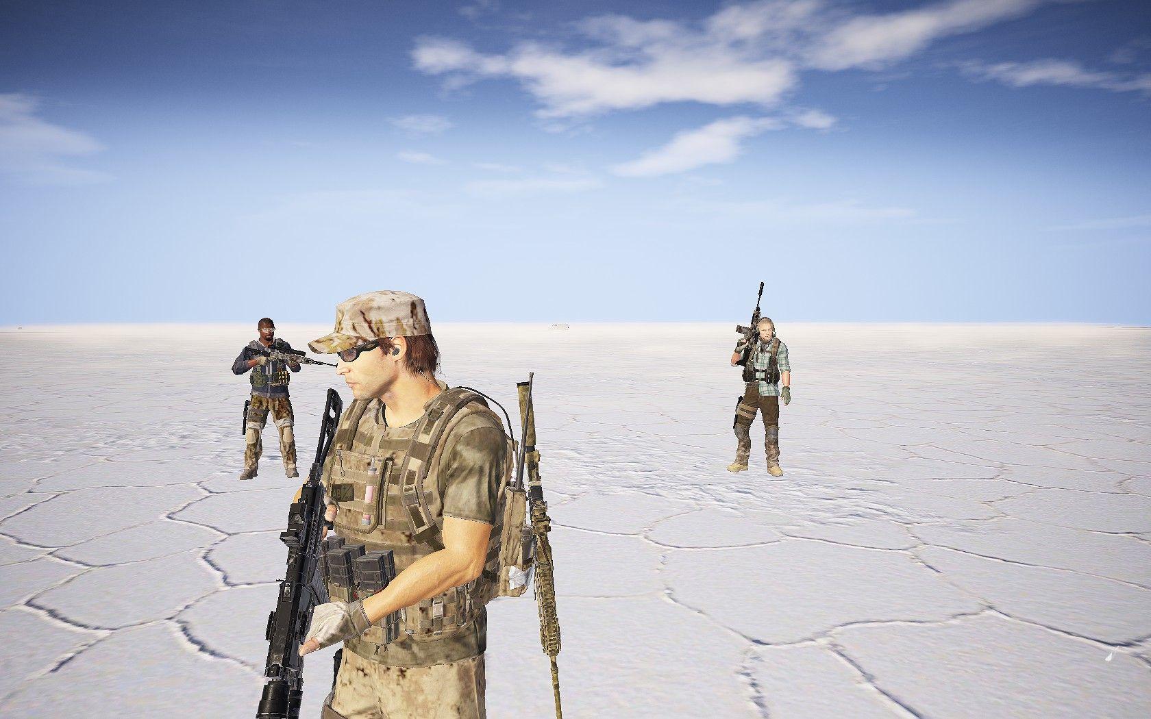 The Salt Flats of Ghost Recon Wildlands.