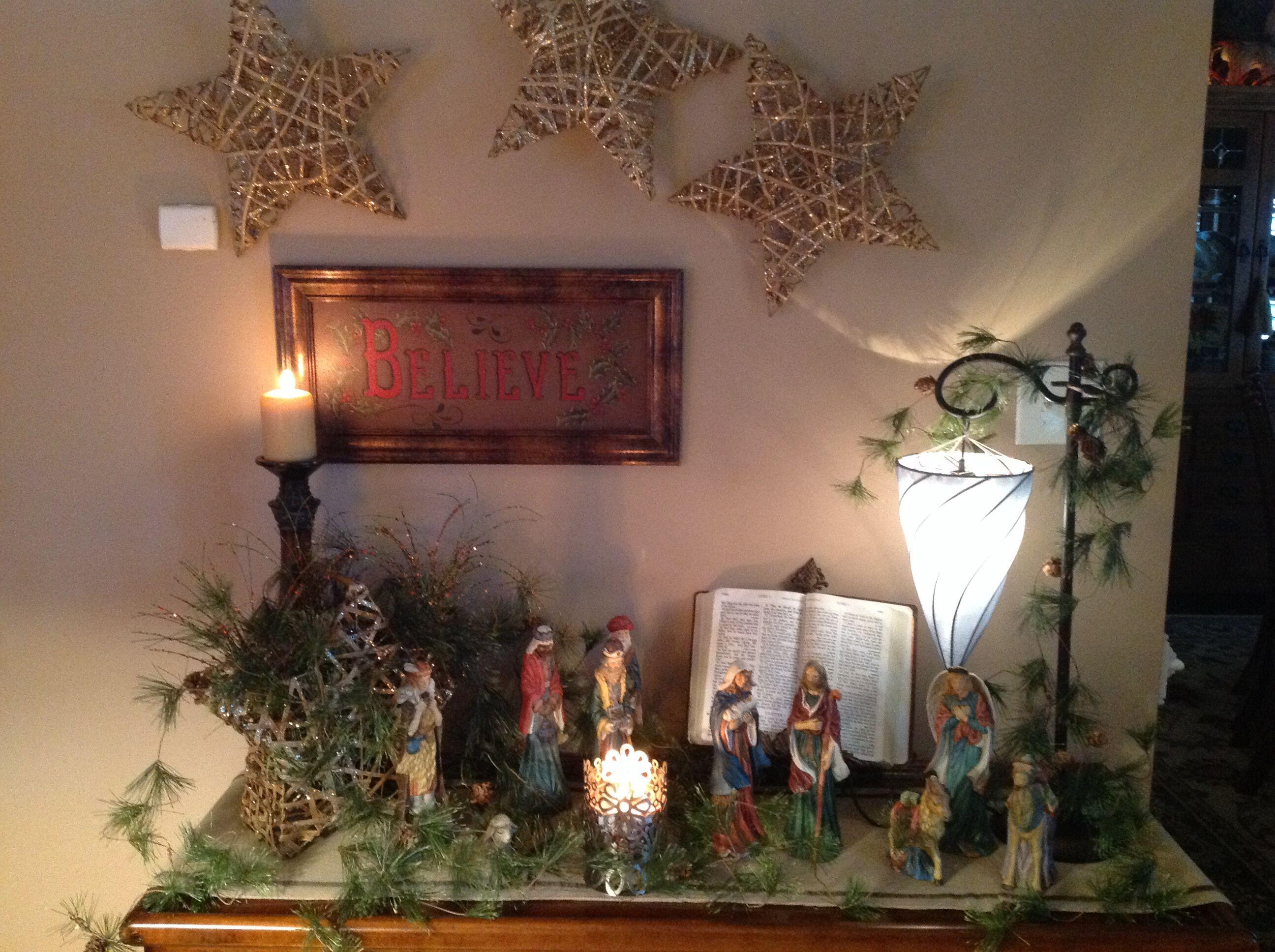 Nativity Scene Very Simple Christmas Nativity Scene Christmas Jesus Christmas Holidays