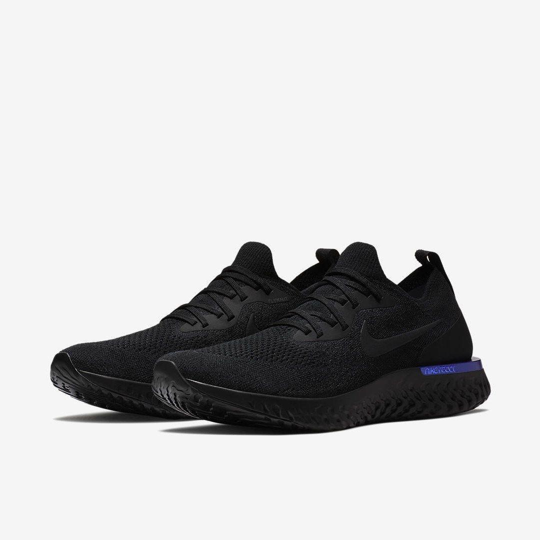 Nike Epic React Flyknit Black/Racer Blue