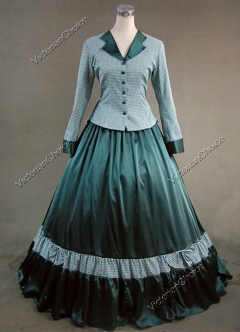green civil war dress | siete novias para siete hermanos | vestido