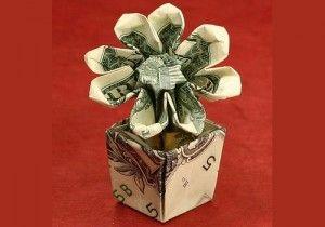 Money origami rose with pot moneygami pinterest origami money origami rose with pot mightylinksfo