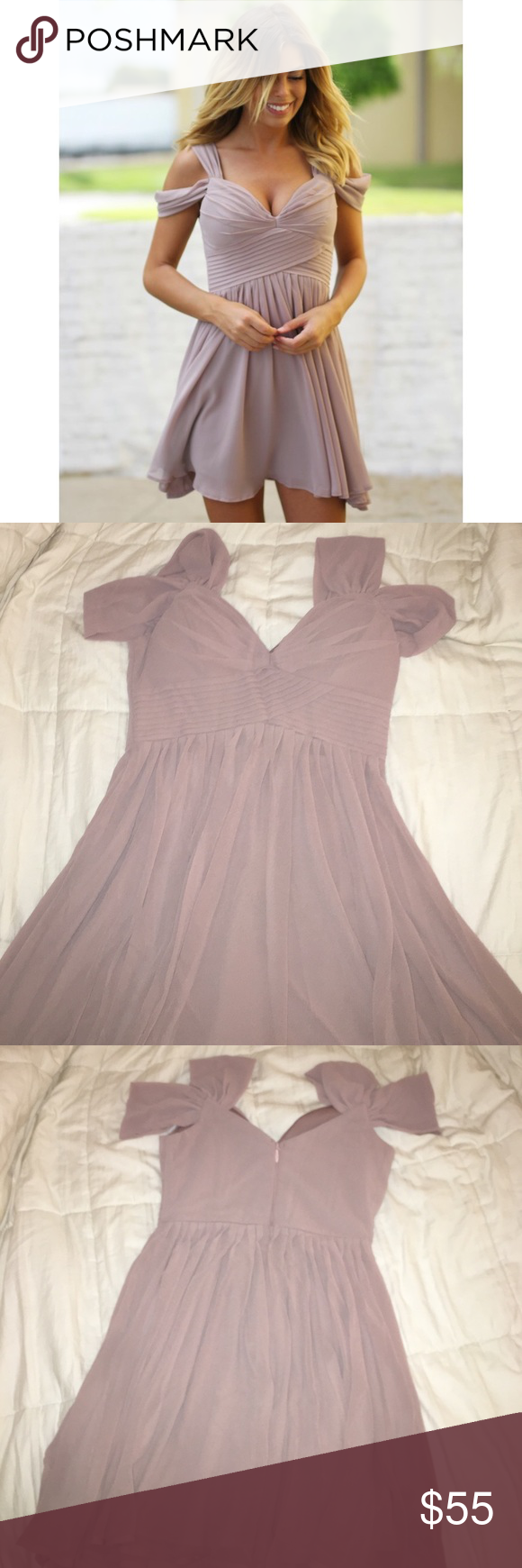 "REDUCED $ - NEW ""Saved by the Dress"" beige dress Beautiful dress! Size medium. Never worn. I bought it online final sale, and it was too small on me :( Dresses Mini"