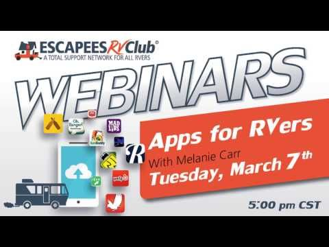 Apps for RVers (Webinar 3) YouTube Looking for your new
