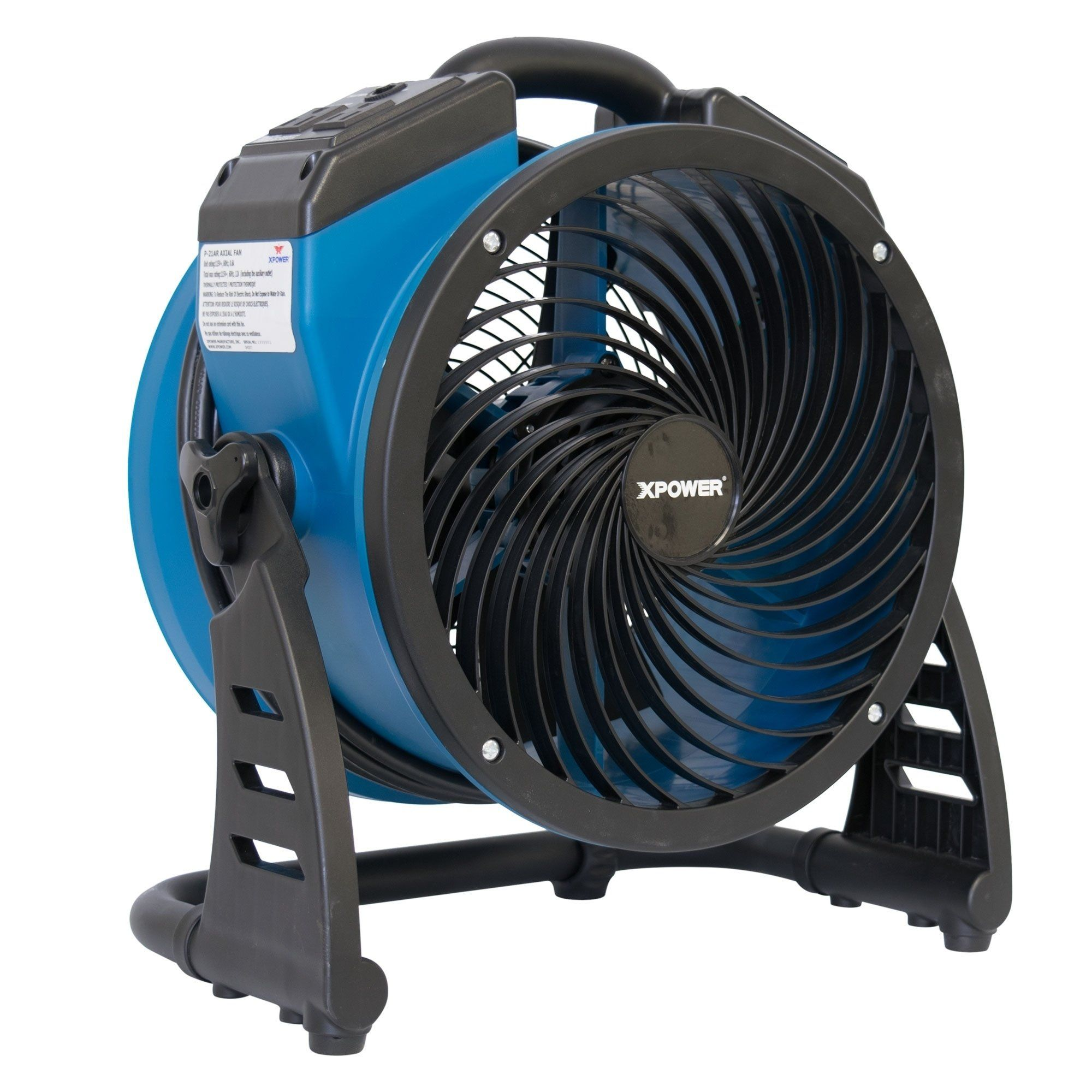 XPOWER P21AR 1100 CFM 4 Speed Industrial Axial Air Mover