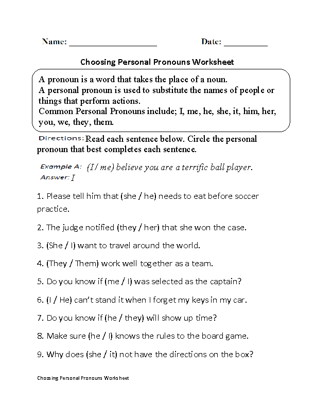 Englishlinx Com Pronouns Worksheets Pronoun Worksheets Personal Pronouns Personal Pronouns Worksheets