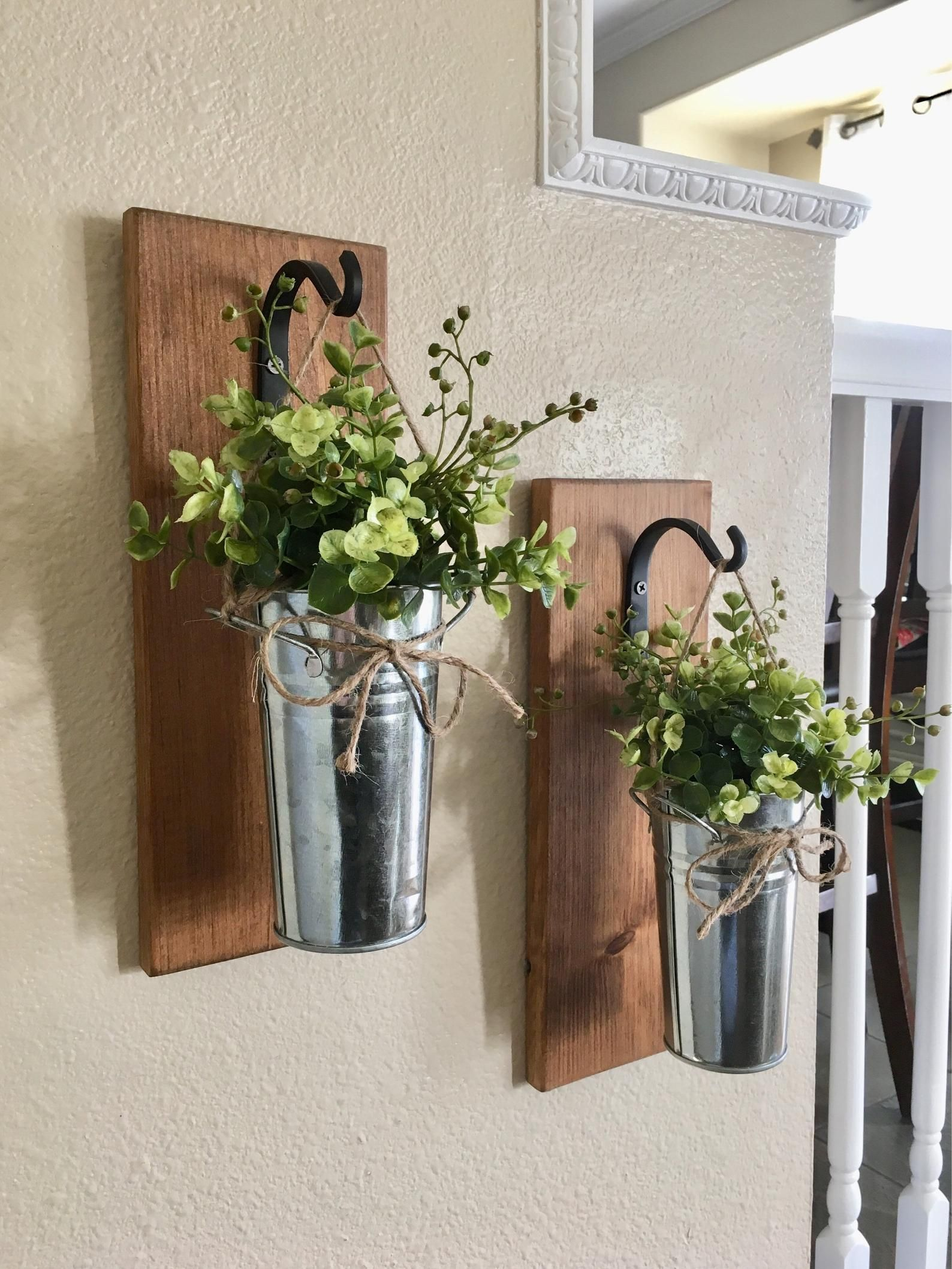 Home Decor,Hanging Planter with Greenery or Flowers ... on Wall Sconces For Greenery Decoration id=99493