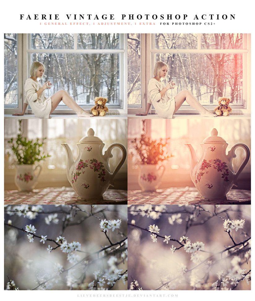 VINTAGE Faerie Vintage Photoshop Action by lieveheersbeestje