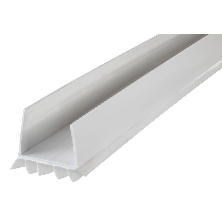 Back Door 13 48 M D 3 Ft White Aluminum Vinyl Door Weatherstrip Easy Slide On Installation No Fasteners And No Drilling Holes Rain Door Sweep Door Seals Vinyl Doors