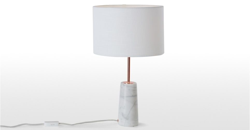 Rita Table Lamp Copper And Marble Copper And Marble Marble