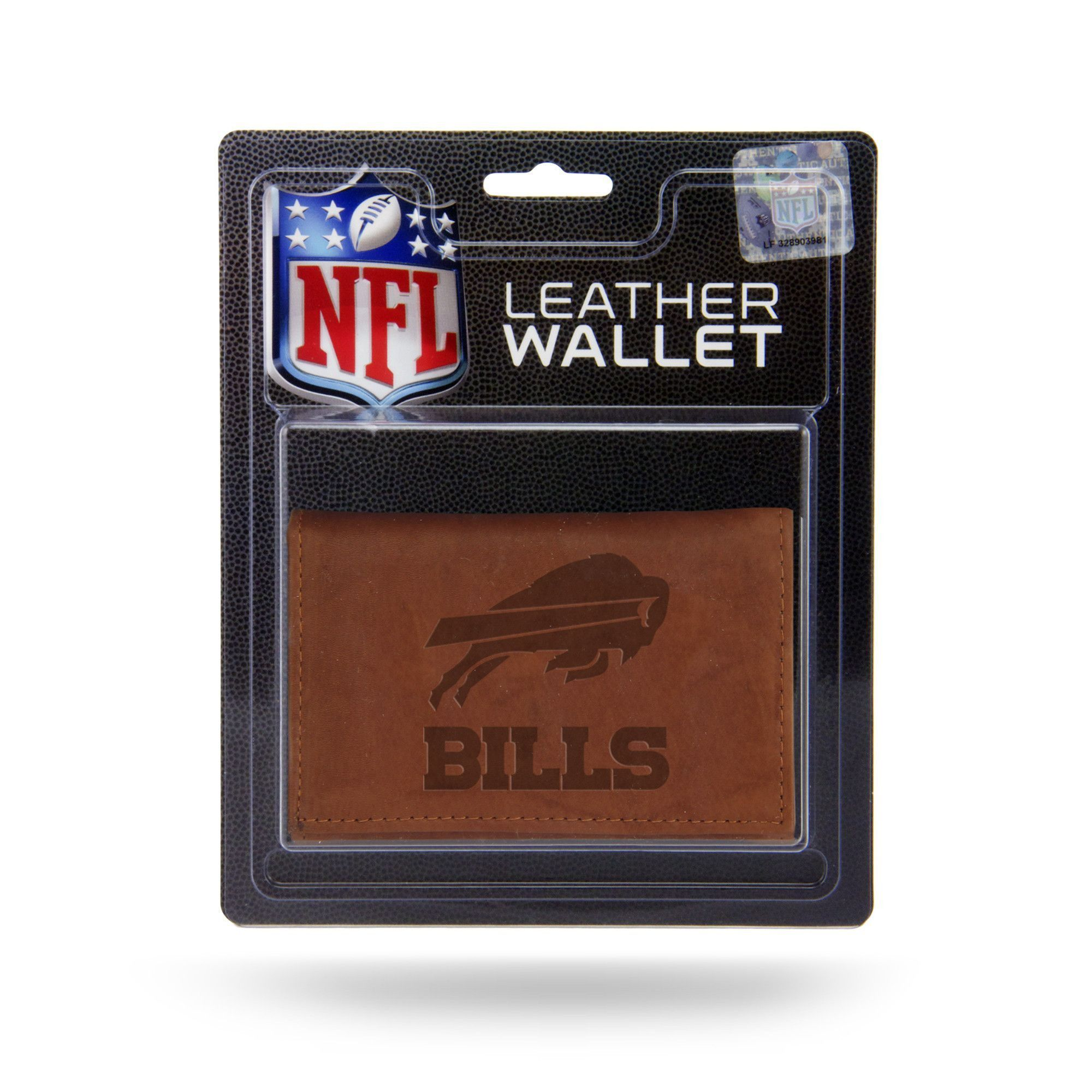 Buffalo Bills Tri-Fold Genuine Leather Wallet with Synthetic Interior