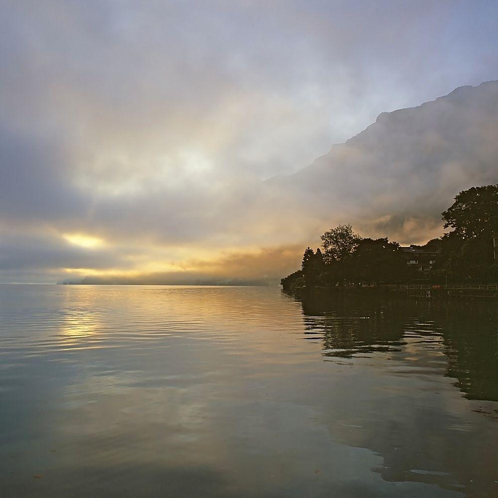 Morgenstimmung am Vierwaldstättersee, Schweiz. (Image needs license before usage. Bild benötigt eine Lizenz vor der Verwendung.)