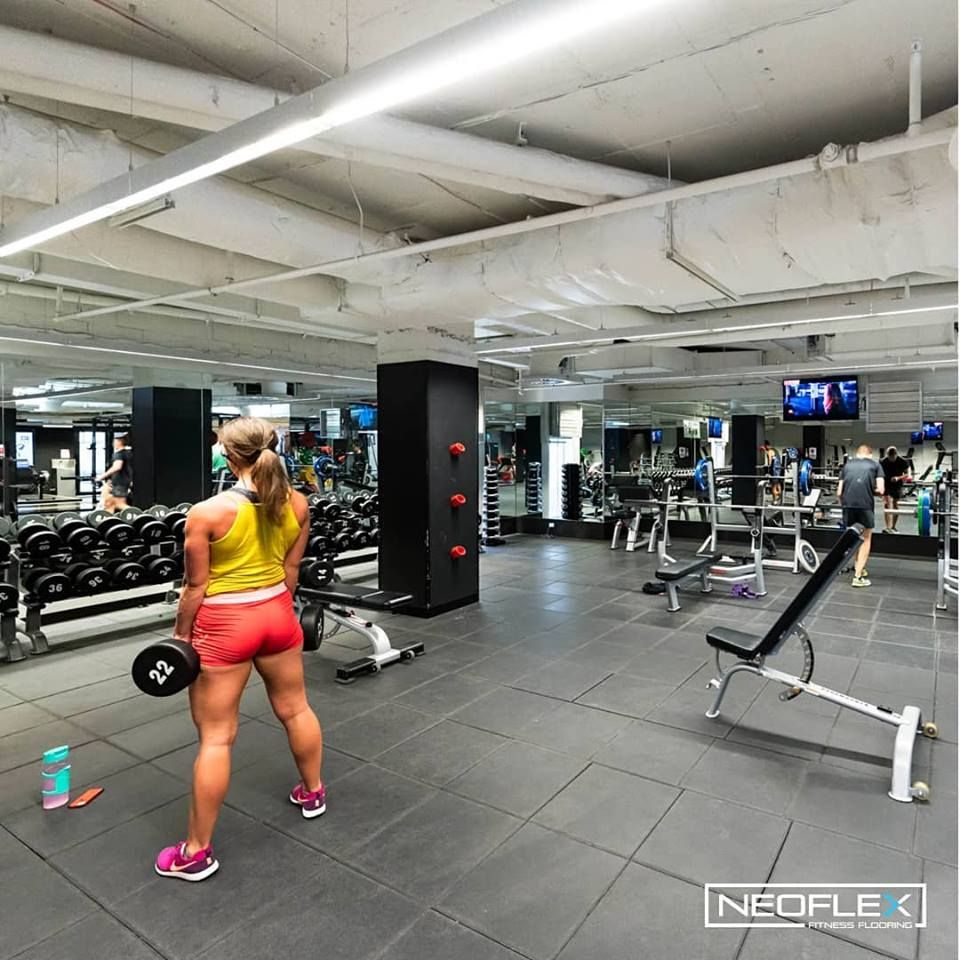Neoflex High Impact Tiles At Fitness First Australia S Flinders Street Platinum Club In Melbourne A Floor Workouts Gym Design Interior Gym Design