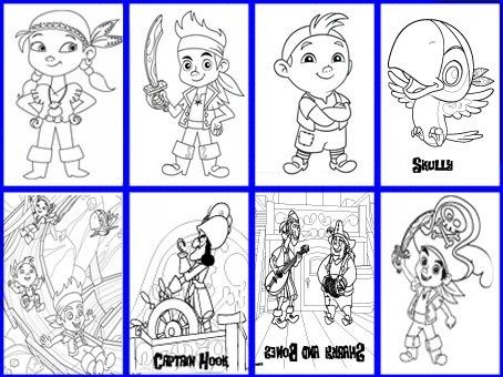 Jake and the Neverland Pirates Coloring Pages  party  PIRATES
