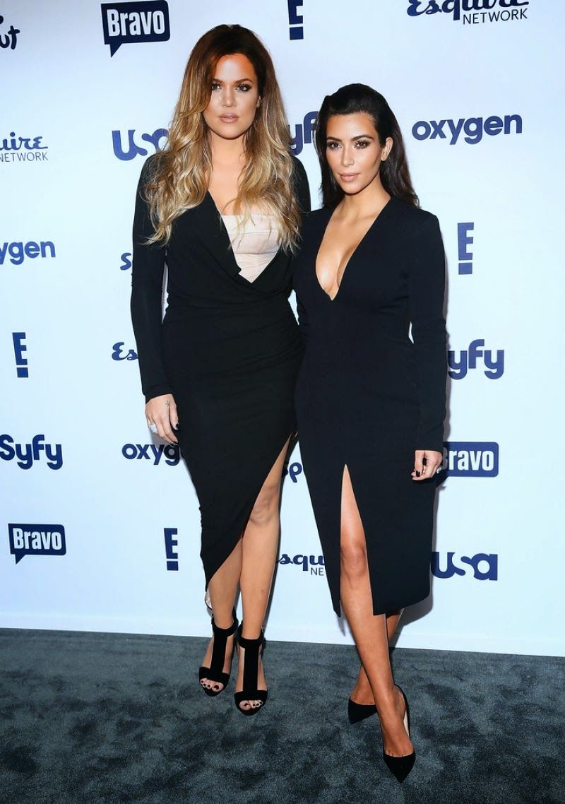 Reality tv sisters kim and khloe kardashian arrived in new york city