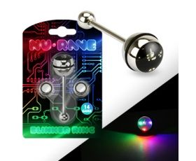 Rave Light-Up Surgical Steel Tongue Ring