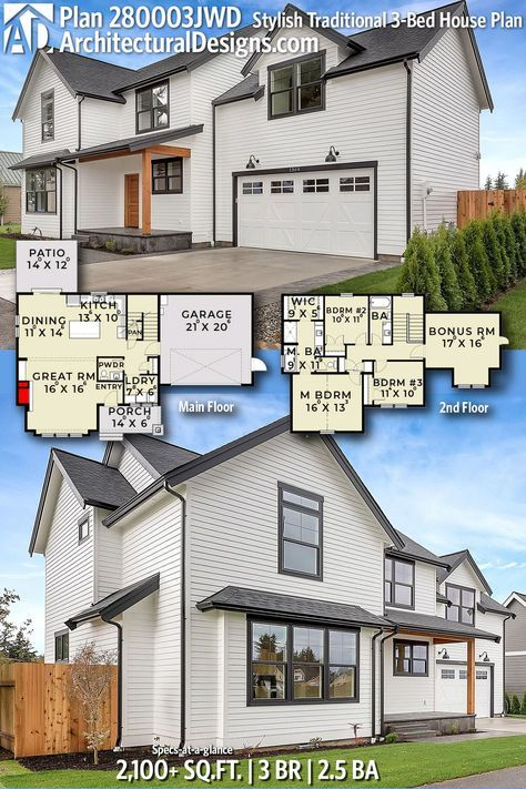 Architectural designs house plan jwd gives you beds baths and over square feet of heated living space ready when are also stylish traditional bed in rh pinterest
