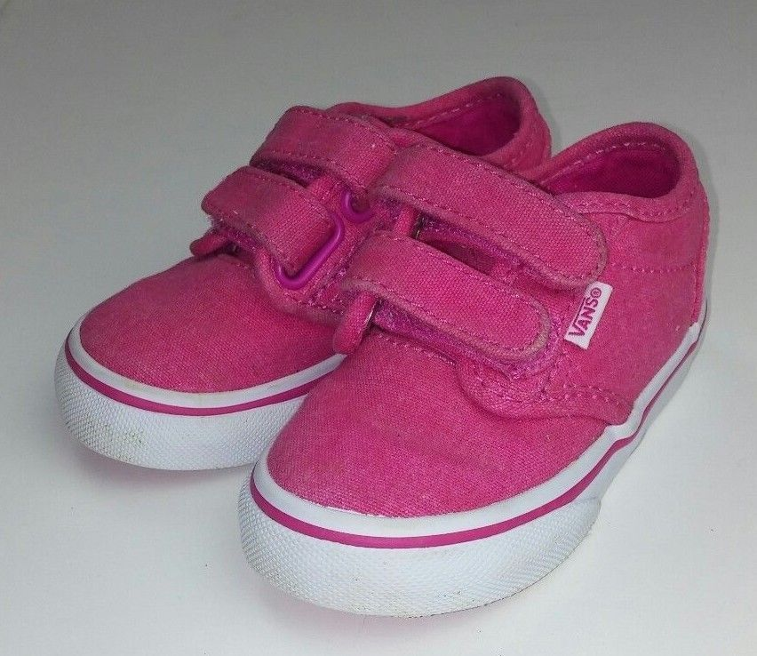 69083fc458f Vans Off The Wall Toddler Girl s Size 5 Shoes Sneakers Solid Hot Pink  Skater EUC  VANS  CasualShoes