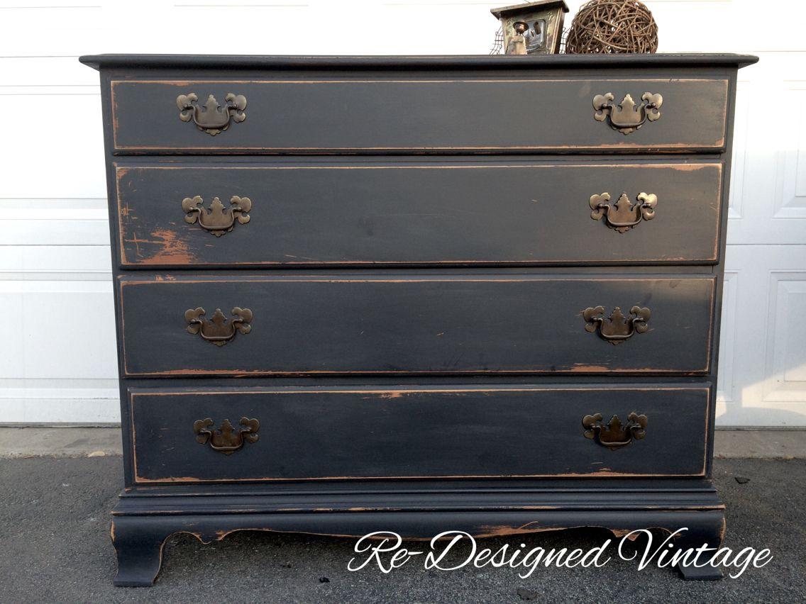 Black Distressed Dresser Black Distressed Dresser Distressed Dresser Vintage Furniture [ 852 x 1136 Pixel ]