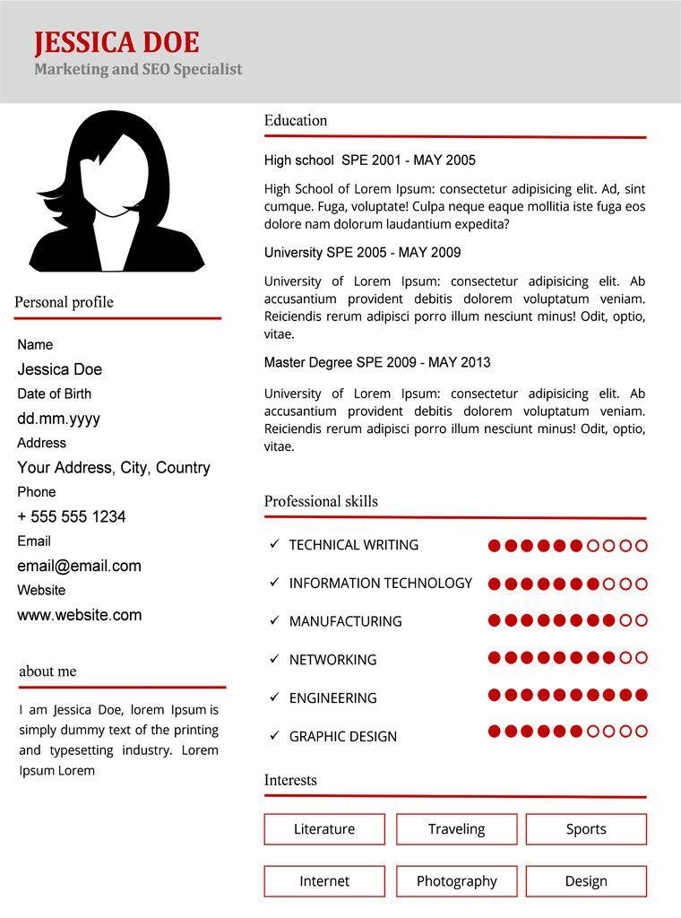 CV Пример 1 in 2020 Marketing resume, Resume, Cv template