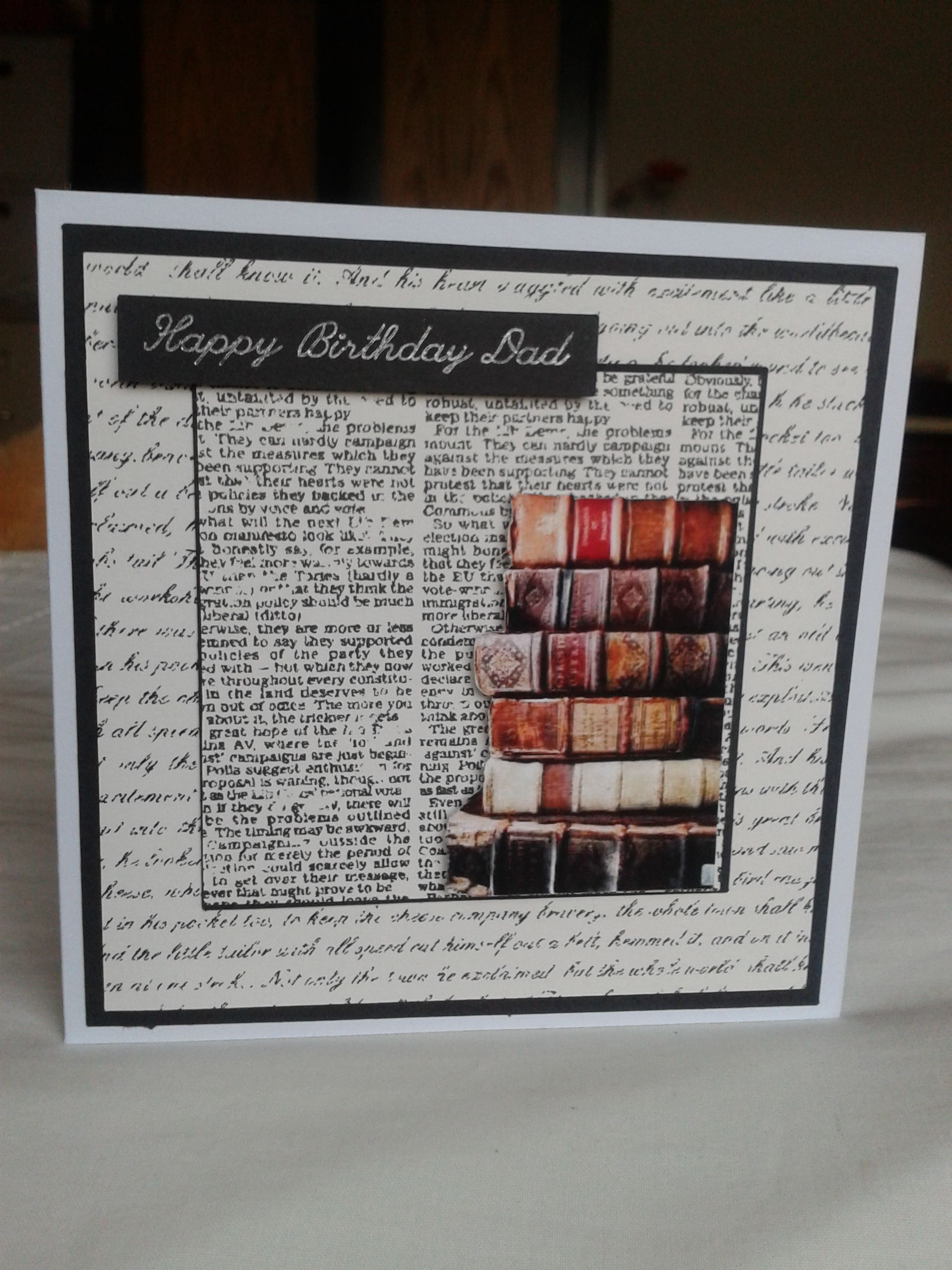 Book Lover Birthday Card Card Book Book Themed Crafts Vintage Cards Handmade