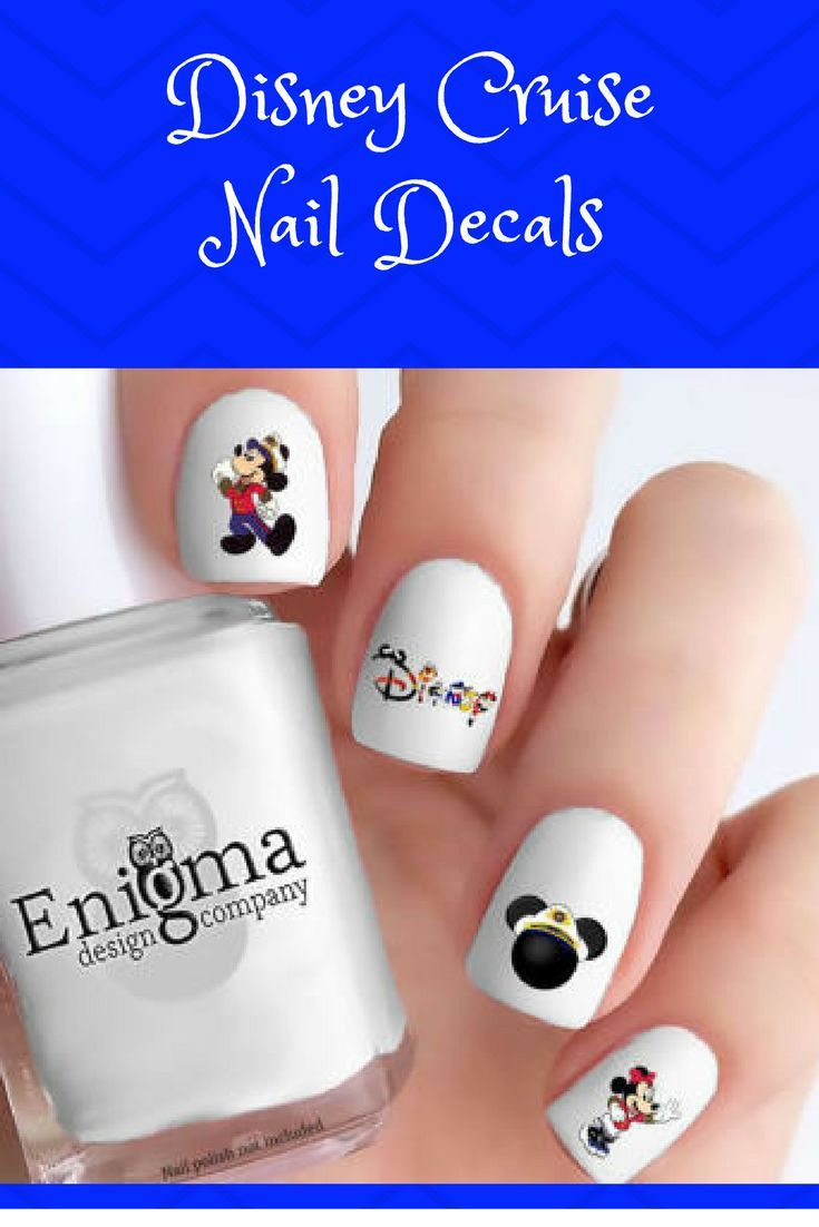 Disney Cruise Nail Decals (set of 60) providing you with a variety ...
