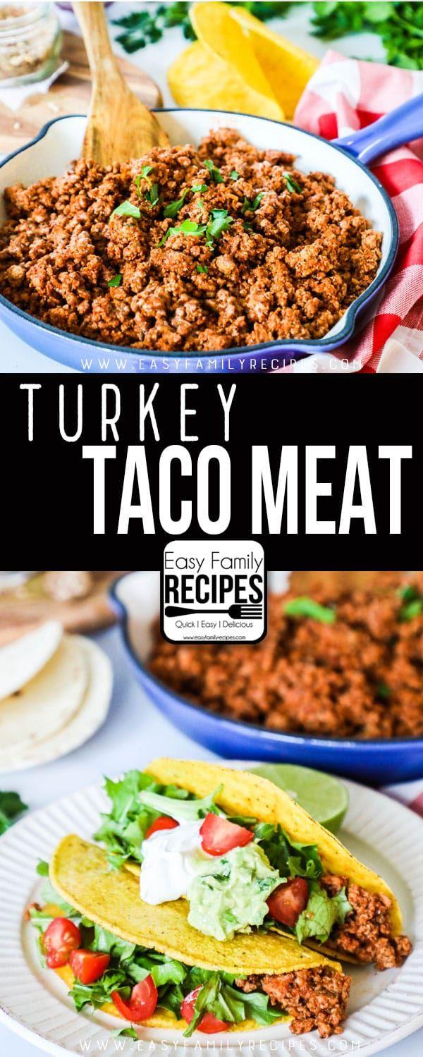 Ground Turkey Tacos · Easy Family Recipes