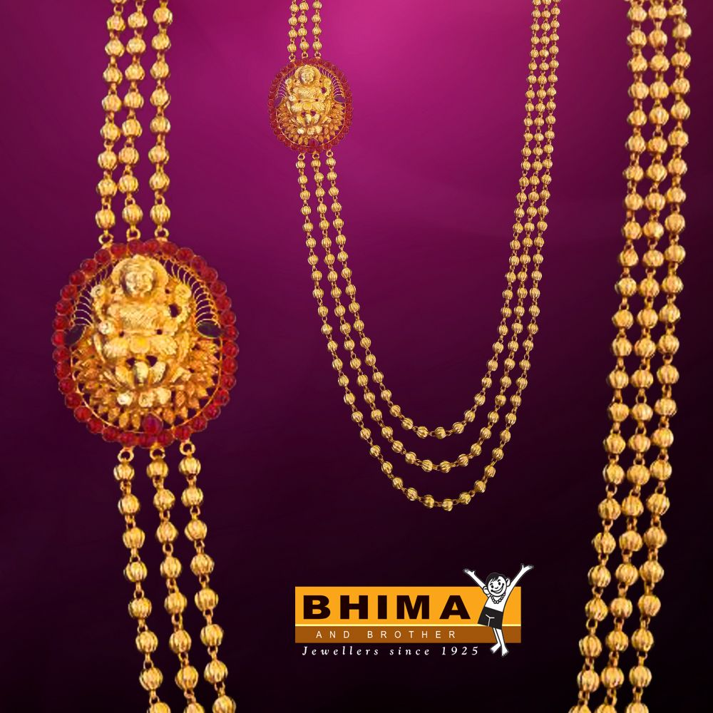 3f26ea8c96 Gold Necklace Bhima Jewellers Volstamp Com