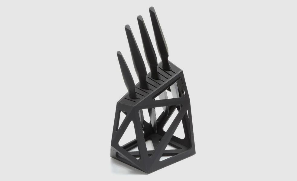 This Knife Block Is Inspired By A Rough Cut Diamond | Cool Material