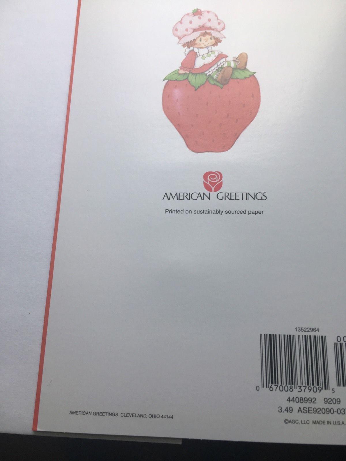Httpsebayitmvintage strawberry shortcake pop up card httpsebayitmvintage strawberry vintage strawberry shortcake greeting cards m4hsunfo Images