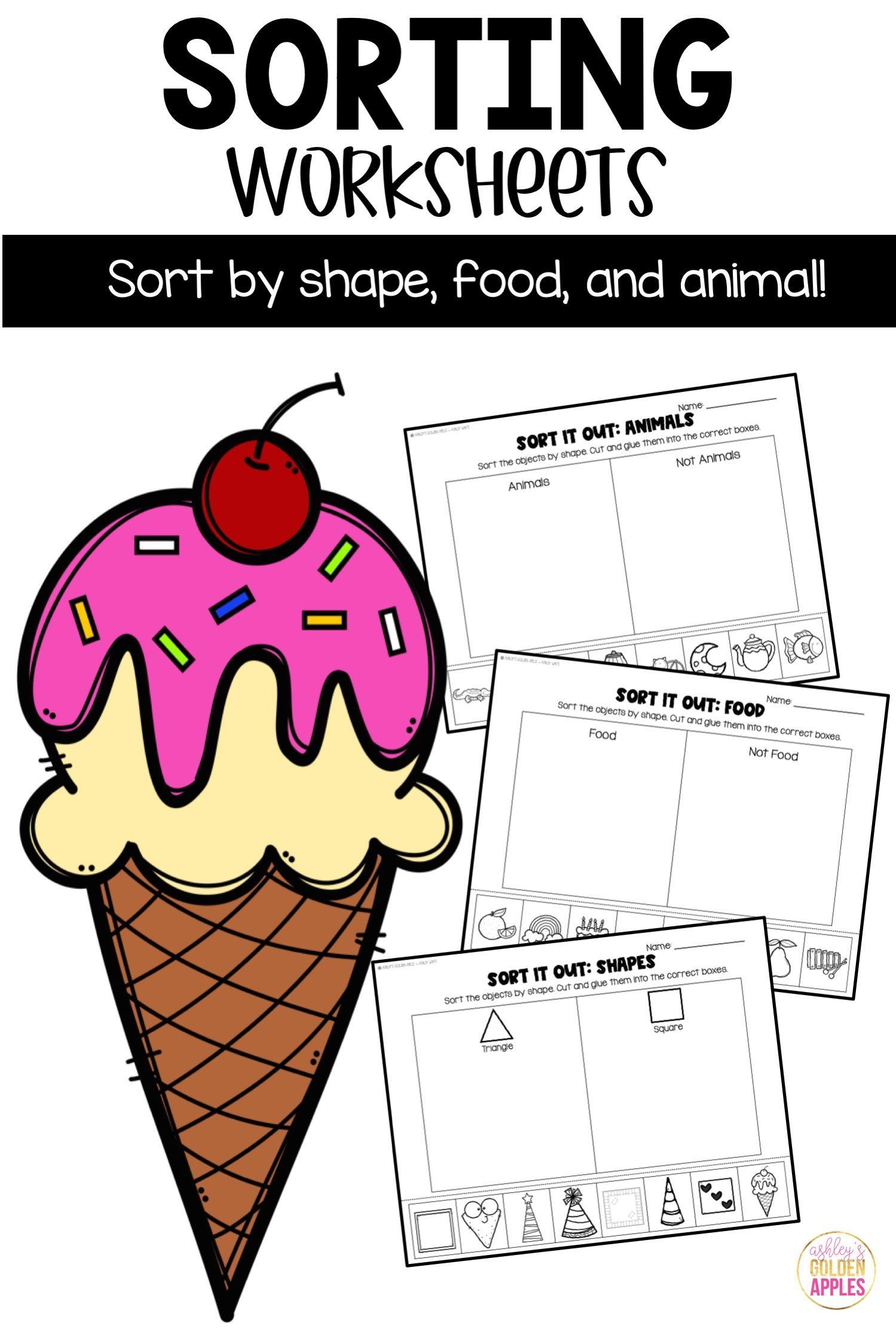 Sorting By Attributes Worksheets