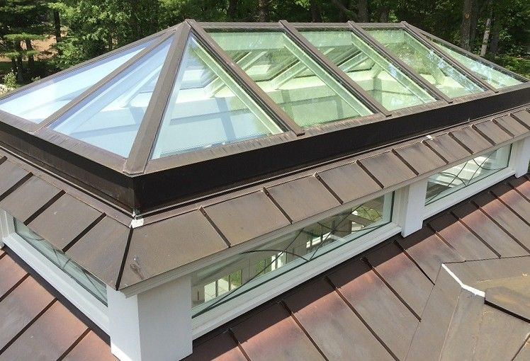 Copper Lantern Skylight Glass House Llc Roof Lantern Skylight Glass Skylight